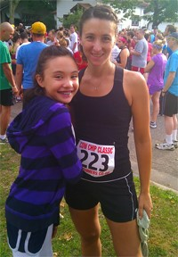 Melissa and Audrey, pre-race