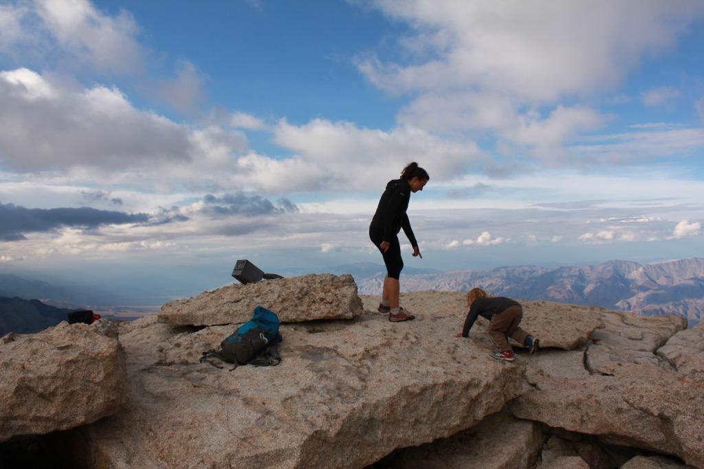 Melissa and Sawyer on the summit