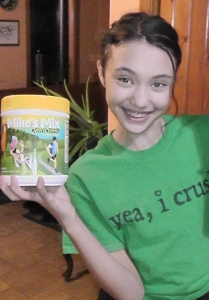 Audrey with Mike's Mix Sports Drink